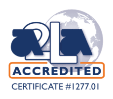 ISO/IEC 17025: 2017 Accredited