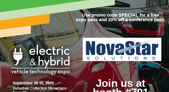 Novastar to Exhibit at the Electric and Hybrid Vehicle Technology Show