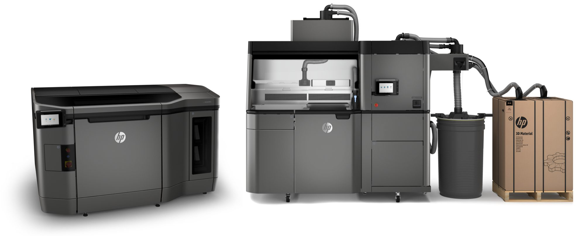 HP Jet Fusion 3D 4200 Printing Solution, Build Unit inside Processing Station