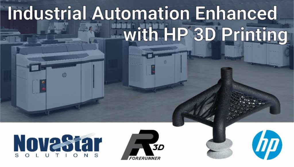 Industrial automation enhanced with HP 3D Printing