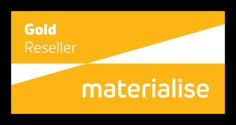 gold reseller badge for materialise