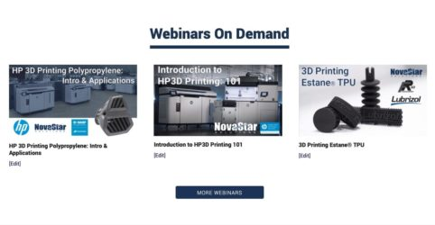 NovaStar HP3D Printing Webinars on Demand