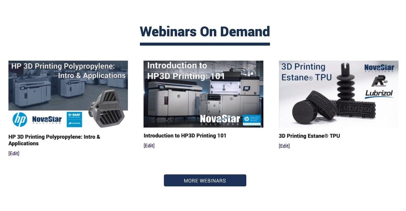 HP 3D Webinars On Demand Now Available